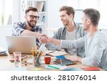sealing a deal. business people ... | Shutterstock . vector #281076014