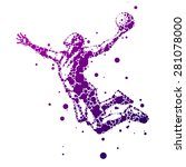 abstract basketball player in... | Shutterstock .eps vector #281078000