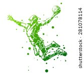 abstract basketball player in... | Shutterstock .eps vector #281078114