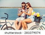 look at this picture  smiling... | Shutterstock . vector #281079074