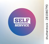self service sign icon....   Shutterstock .eps vector #281080790