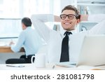 satisfied with the work done.... | Shutterstock . vector #281081798