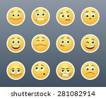 the most beautiful yellow... | Shutterstock .eps vector #281082914