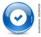 confirm icon | Shutterstock . vector #281084036