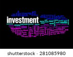 investment word on cloud... | Shutterstock . vector #281085980
