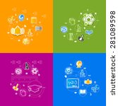 education sticker infographic | Shutterstock .eps vector #281089598
