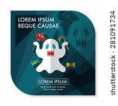 ghost flat icon with long... | Shutterstock .eps vector #281091734