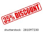 35 pencent discount red stamp... | Shutterstock .eps vector #281097230