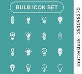 bulb icons | Shutterstock .eps vector #281098370