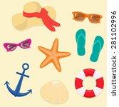 summer vacation background ... | Shutterstock .eps vector #281102996