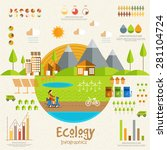 ecology infographics elements... | Shutterstock .eps vector #281104724
