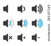 audio speaker volume icons