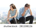 bad girl arguing with her... | Shutterstock . vector #281108126