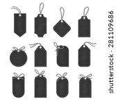 set of chalkboard tags and...   Shutterstock .eps vector #281109686