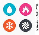 circle buttons. hvac icons.... | Shutterstock .eps vector #281110718