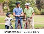 happy multi generation family... | Shutterstock . vector #281111879
