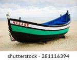 Traditional Colorful  Boat On...