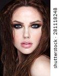 beauty face makeup. make up.... | Shutterstock . vector #281118248