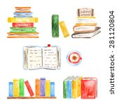 Set Of Books Icons Made In...
