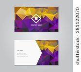 vector business card with... | Shutterstock .eps vector #281122070