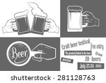 beer craft festival two color... | Shutterstock . vector #281128763