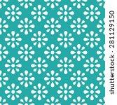 vintage floral seamless pattern ... | Shutterstock .eps vector #281129150
