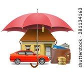 vector insurance concept   Shutterstock .eps vector #281134163