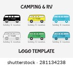outdoor activity travel logo... | Shutterstock .eps vector #281134238