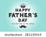 happy fathers day card | Shutterstock .eps vector #281135414