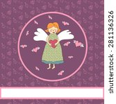 cute card with angel. | Shutterstock .eps vector #281136326