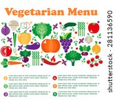 vegetarian menus of restaurants ... | Shutterstock .eps vector #281136590
