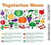 vegetarian menus of restaurants ... | Shutterstock .eps vector #281136590