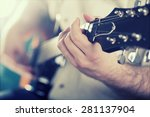 guitarist on stage in the... | Shutterstock . vector #281137904