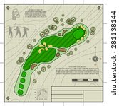 golf course layout. abstract... | Shutterstock .eps vector #281138144