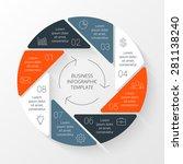 vector circle infographic.... | Shutterstock .eps vector #281138240