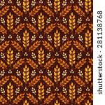 seamless vintage pattern with... | Shutterstock .eps vector #281138768