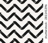 hand drawn chevron seamless... | Shutterstock .eps vector #281141396