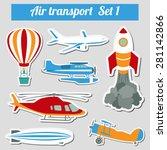 public transportation  air... | Shutterstock .eps vector #281142866