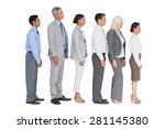 business people standing behind ...   Shutterstock . vector #281145380