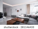 contemporary design of spacious ... | Shutterstock . vector #281146433
