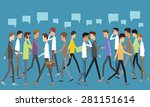 social business man... | Shutterstock .eps vector #281151614