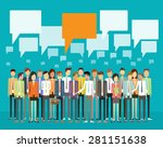 group people business... | Shutterstock .eps vector #281151638