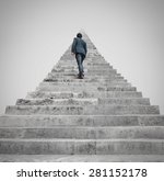 man facing to a challenge | Shutterstock . vector #281152178