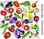 watercolor background... | Shutterstock .eps vector #281155016