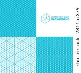 isometric grid vector... | Shutterstock .eps vector #281155379