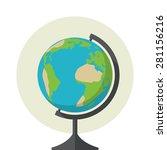 earth globe icon  flat design ... | Shutterstock .eps vector #281156216