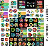mega collection of flat web... | Shutterstock .eps vector #281158844