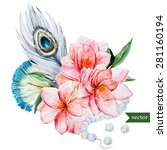 watercolor vector illustration  ... | Shutterstock .eps vector #281160194