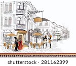 series of the streets with... | Shutterstock .eps vector #281162399