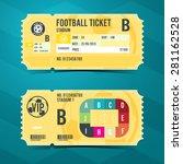 football ticket card retro... | Shutterstock .eps vector #281162528